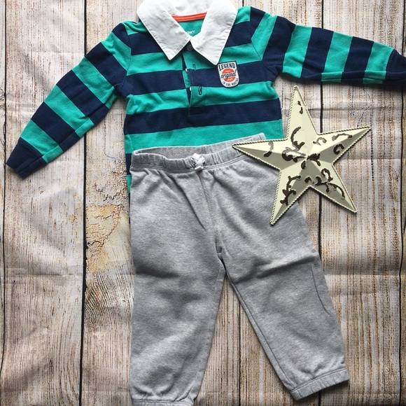 Gorgeous Collared Carter's Outfit size 12 months